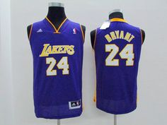 NBA Kobe Bryant youth kids jersey purple jerseys