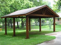 beautiful free standing stained wood gable patio cover | custom ... - Free Standing Patio Cover Designs