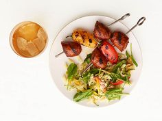 Grilled Sausage Kebabs With Pasta Salad from #FNMag