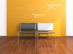 Paper Plane Vinyl Wall Decal by threethirtysix on Etsy, $45.00