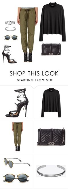 """""""Love Quilted Crossbody Bag, Black"""" by hippiefashion ❤ liked on Polyvore featuring Dsquared2, Vis-à-Vis, Rebecca Minkoff, Ray-Ban, Maison Margiela and Calvin Klein"""