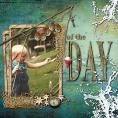 Catch of the Day - Scrapbook.com. But I like the textures and layers of doing it yourself.
