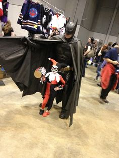 Adorable Cosplay of the Day: im-a-harley-girl:  The cutest little Harley Quinn at the Con!