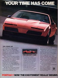 Vintage ad: 1982 Pontiac Firebird Trans Am – The Driver's Car | Hemmings Daily