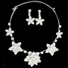 Beautiful Rhinestone Gorgeous Flower Ladies' Jewelry Set (45 cm) – AUD $ 29.52