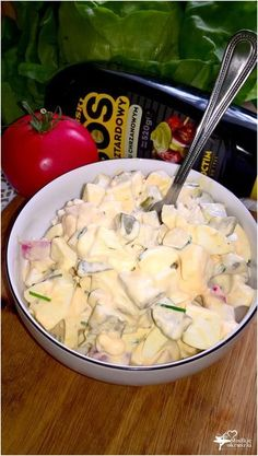 Wyrazista w smaku sałatka z sosem musztardowo-chrzanowym Appetizer Salads, Appetizer Recipes, Salad Recipes, Appetizers, Cooking Recipes, Healthy Recipes, Best Food Ever, Potato Salad, Food To Make