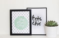 Decorate your home in cute art that you can print out instantly, from super pretty typography to...