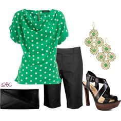 Black and Green, created by coombsie24 on Polyvore