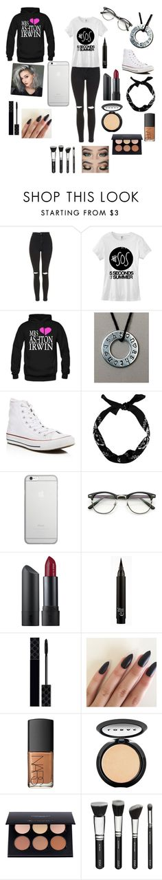 """""""5 seconds of summer concert"""" by darcyturner ❤ liked on Polyvore featuring Topshop, Converse, New Look, Native Union, Bite, Gucci, NARS Cosmetics and LORAC"""