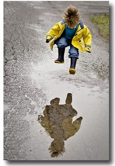 Puddle jumpin is Kenna but that raincoat is Harriet the spy AKA Samantha