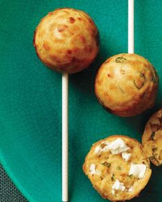 10 Party-Perfect Hors d'oeuvres - Mini Feta Cakes with Basil and Smoked Paprika from #InStyle