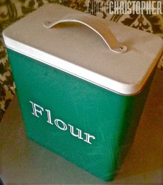 Vintage Style Kitchen Flour Canister by stuartchristopher on Etsy, $12.00