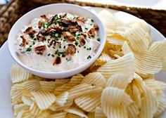 Loaded Baked Potato Dip Recipe  sour cream, Frank's red hot sauce, etc. - easy...this is the recipe I made to take to two separate cook outs over Labor Day weekend. A big hit!