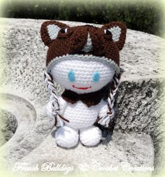 Amigurumi Crochet Ideas, French Bulldog, Snowman, Teddy Bear, Toys, Outdoor Decor, Animals, Home Decor, Amigurumi