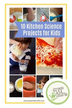 We've rounded up a few of our favorite #kitchenscience projects in the kitchen but there are just too many to list! #kidscience #kidsinthekitchen #kidscrafts #kidscienceexperiment #kidscienceprojects #kidscienceexperiments #kidscrafts101 #kidscraftideas #craftsforkids#preschooler#keepingkidsbusy #craftideasforkids#activitiesfortoddlers#playideas#kidsartideas #gogreen #greenkidcrafts