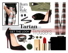"""""""Tartan Trousers"""" by retrovisical on Polyvore featuring Racil, Pierre Balmain, Blue Nile, Yves Saint Laurent, BCBGeneration, Christian Louboutin, Alexander McQueen, Coccinelle, Gucci and Marni"""
