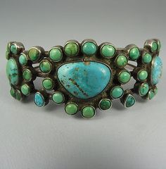 Vintage Turquoise Cuff.....Great colors!