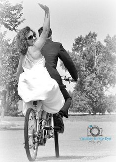 Ciao! See You in Ten, Again! | Flickr - Photo Sharing! Bride & Groom celebrate their 10 year anniversary on a bicycle built for TWO!