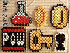 Mario Items perler beads by PerlerPixie