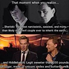 sherlock, loki vs. benedict cumberbatch and tom hiddleston