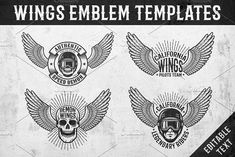 Wings Emblem Templates by Agor2012 shop on @creativemarket