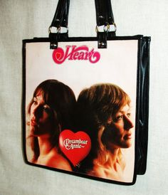 Heart Dreamboat Annie Album Cover Purse, Large Tote Bag. $55.00, via Etsy.
