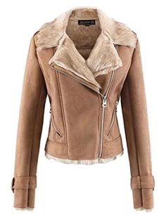 Alion Women's Winter Oblique Zipper Lapel Suede Fur Lined Slim Fit Motorcycles Jacket Khaki XS Marterial: we recommend you to double check size measurement in each product description comparing with your clothes.If you haven't tried our goods before, we suggest you to pick 1~2 size bigger items.:) Package:Other accessories not include Material:PUSize details:US X-Small=China Small:Length:20.08″(51cm),Bust:36.22″(92cm),Shoulder:15.75″(40cm),Sleeve Le