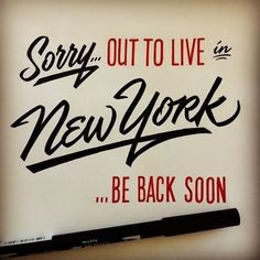 Creative Tapia, Matthew, Typography, Lettering, and Hand image ideas & inspiration on Designspiration Typography Letters, Typography Design, Service Assiette, New York Quotes, A New York Minute, Empire State Of Mind, I Love Nyc, All I Ever Wanted, Living In New York