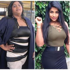 Before and After Weightloss Inspiration. Want to make a fitness transformation like this? Read her story ❤️