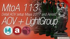 MtoA 113   AOVs and LightGroups   using Arnold with Maya 2017