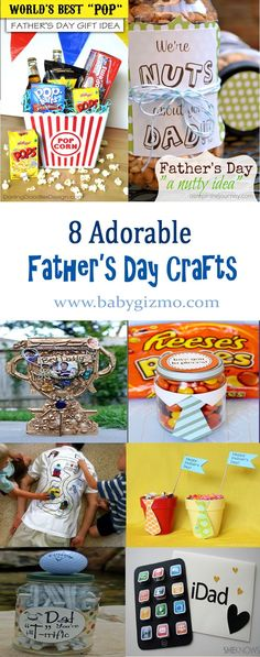 Crafts and DIY ideas | I've rounded up 8 adorable Father's Day crafts that your kids will love to make and dads will love to receive!
