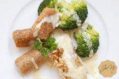 Fischfilet mit Limetten-Honig-Senf-Sauce und Haselnusskroketten {Rezept}