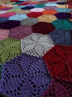 A crochet blanket I made....