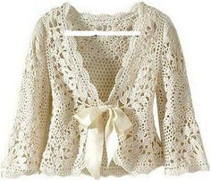 lovely crocheted jacket pattern