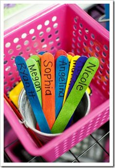 MUST have popsicle sticks with student names...you use them all the time