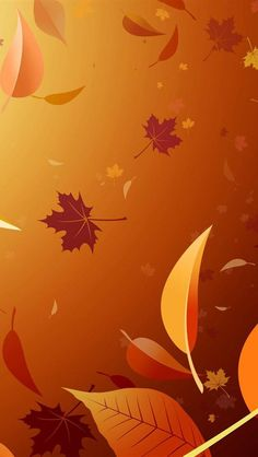 Vector Autumn Leaves backgrounds for iphone 5