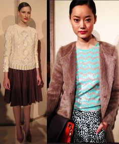 glittery sweater with a skirt or pants (J. Crew 'Fall' 2012 NYFW)