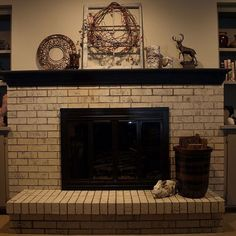 Painting a Brick Fireplace With Chalk Paint®