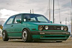 ..green Mk2 Volkswagen Golf Mk1, Vw T1, Golf 2, Vw Classic, Golf Exercises, Top Cars, Car Engine, Amazing Cars, Awesome