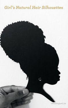 Silhouette of Afro-American girl by tutuvi, via ShutterStock . Black Girl Art, Black Women Art, Black Art, Art Girl, African Art Projects, African Crafts, Black Woman Silhouette, Girl Silhouette, Natural Hair Art