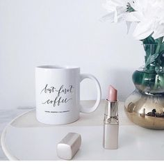 But First Coffee Mug by LHCalligraphy on Etsy
