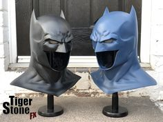 Black and dark blue Batman Rebirth cowls. The dark blue one is for someones Hush cosplay combined with our comic gauntlets in the same color & a shaped chest emblem. - cast in VytaFlex 40 Batman Armor, Batman Suit, Batman Mask, Gotham Batman, Batman Comics, Anime Comics, Dc Comics, Jason Fabok, Batman And Robin Costumes