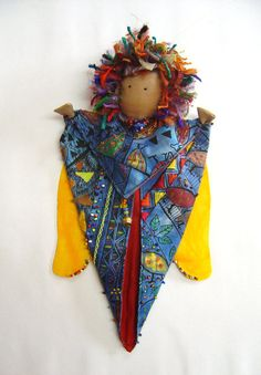 African Angel by ColourSpun on Etsy Angels In Heaven, African, Dolls, Christmas Ornaments, Sewing, Holiday Decor, Unique Jewelry, Creative, Handmade Gifts