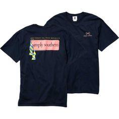 Simply Southern Women's Tie T-Shirt, Size: XL, Blue