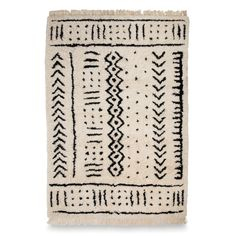 Mudcloth Hand Knotted Wool Rug | Citta Design
