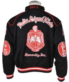Delta sigma theta cardigan sweater black dst - Delta sigma theta sorority cardigans ...