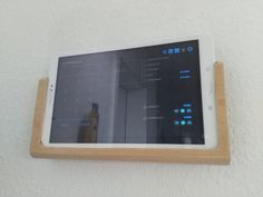 Your setup for a wall mounted tablet Ipad Holder, Tablet Holder, Tablet Wall Mount, Home Crafts, Diy Home Decor, Ipad Mount, Caravan Makeover, Tiny House Living, Home Automation