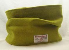 Harris Tweed cowl in acid green.  From Ebay - http://www.ebay.co.uk/itm/-/121234155453