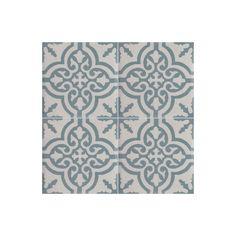 Carreau de stone wash motif 4 carreaux blanc et bleu TROUVILLE SW 07.39