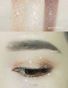Eye shadow // tip // make-up // tutorial Asian Makeup Looks, Korean Makeup Look, Korean Makeup Tips, Asian Eye Makeup, Korean Makeup Tutorials, Eye Makeup Cut Crease, Makeup Eyeshadow, Eyeliner, Ulzzang Makeup